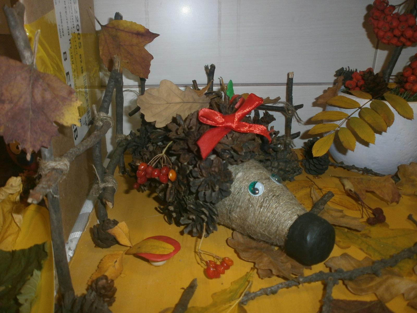 Поделки из натуральных материалов для детского сада фото